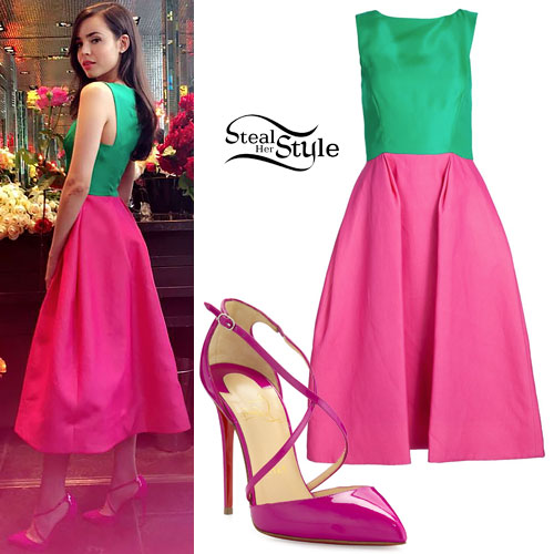 c8d3ec38a4a2 Sofia Carson  Green   Pink Dress