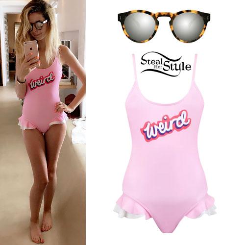 Zoella: 'Weird' Ruffle Swimsuit