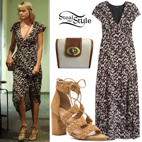 taylor swift floral dress laceup sandals steal her style