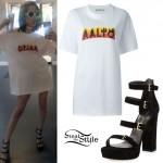 Amanda Steele: Flame T-Shirt, Strap Sandals