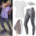 Chachi Gonzales: Cable Leggings, Yeezy Slippers