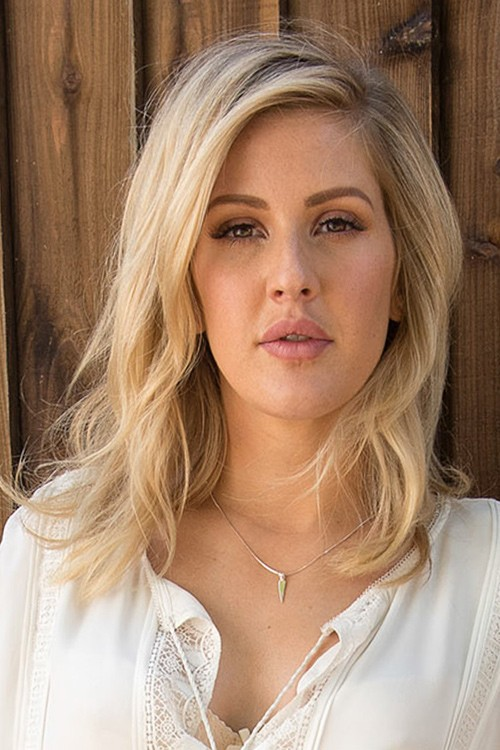 Ellie Goulding Wavy Ash Blonde Messy Hairstyle Steal Her