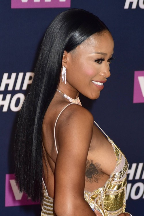 Keke Palmer Straight Black Flat Ironed Hairstyle Steal