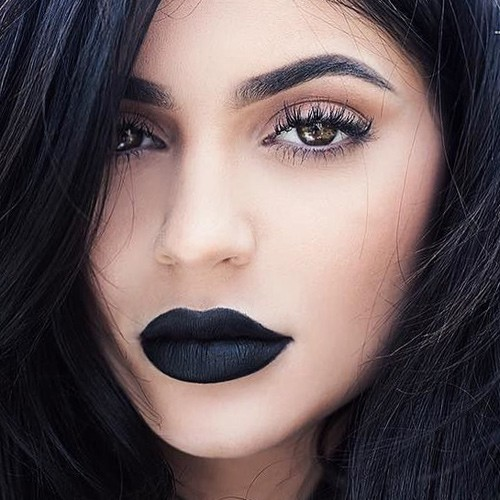how to make black lipstick with eyeshadow