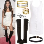 Madison Beer: Snap-Front Tank Dress