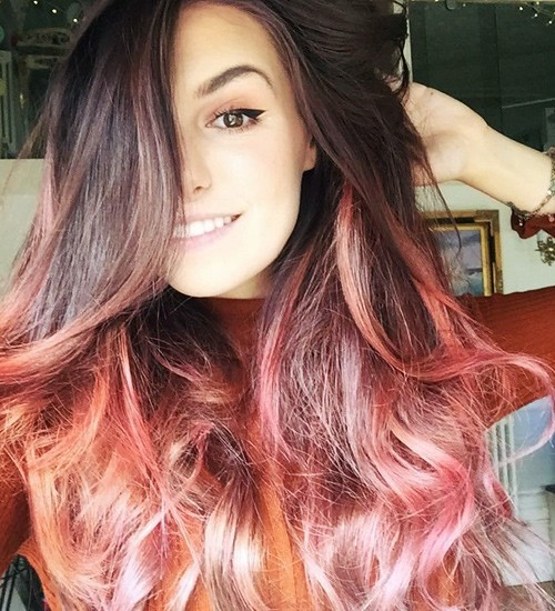 Marzia Bisognin Wavy Dark Brown Ombré, Two-Tone Hairstyle | Steal Her ...
