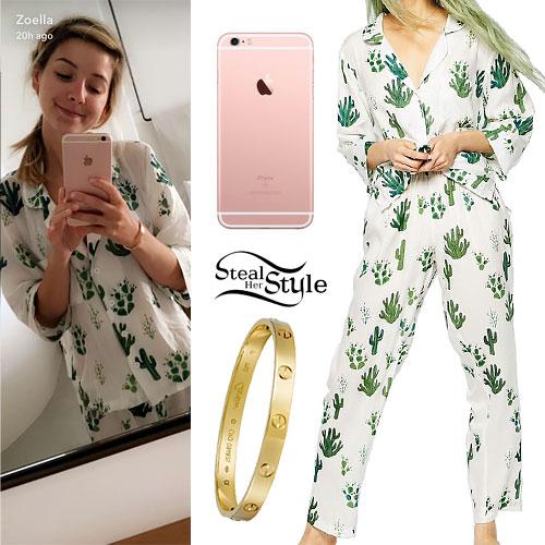 Zoella: Cactus Print Pajamas