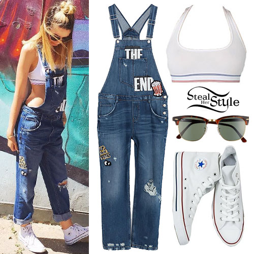 Zoella: Patch Overalls, Sports Bra