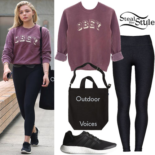 Chloe Moretz arriving at the gym in Los Angeles. August 5th, 2016 - photo: AKM-GSI