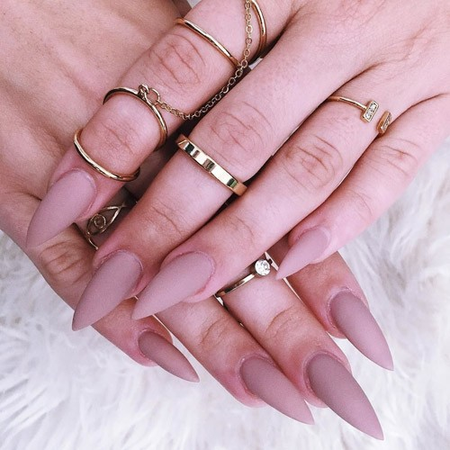 Kylie Jenner Light Pink Nails | Steal Her Style