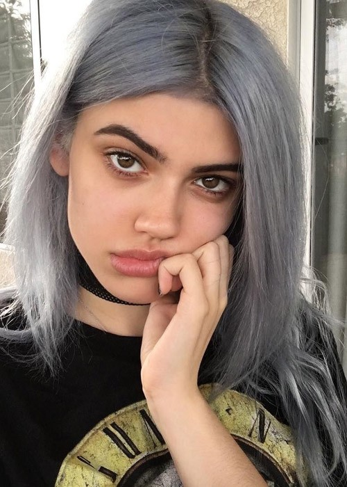 kelsey calemine straight silver angled uneven color hairstyle steal her style. Black Bedroom Furniture Sets. Home Design Ideas