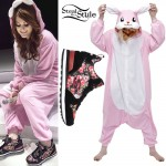 Meghan Trainor: Bunny Onesie, Floral Sneakers
