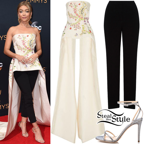 Sarah Hyland at the 68th Emmy Awards at the Microsoft Theater. September 18th, 2016 - photo: FameFlynet