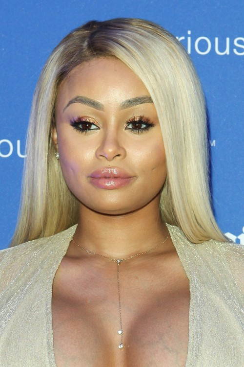 Blac Chyna Straight Ash Blonde Dark Roots Flat Ironed