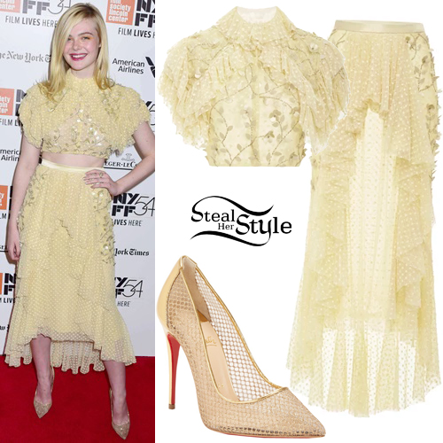 Elle Fanning at the 20th Century Women premiere during the 54th New York Film Festival at Alice Tully Hall. October 8th, 2016 - photo: PacificCoastNews