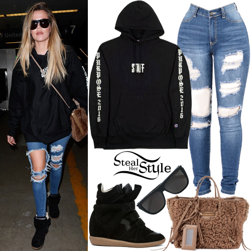 Khloe Kardashian arriving at LAX Airport. September 28th, 2016 - photo: AKM-GSI
