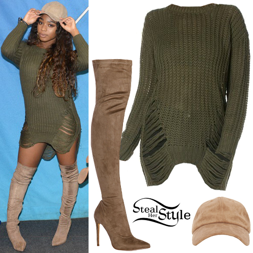33ddeff7938 Normani Kordei  Distressed Sweater