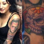 alexia-rodriguez-skull-arm-tattoo