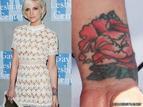 ashlee-simpson-peony-wrist-tattoo