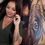 jesy-nelson-feather-arm-tattoo