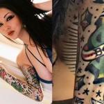melissa-marie-green-dice-arm-tattoo