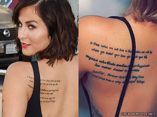 scout taylorcompton writing shoulder blade tattoo steal