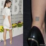 Emily Ratajkowski Tattoos