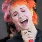 """94170,  LOS ANGELES, CALIFORNIA - Thursday April 11, 2013. Hayley Williams lead singer from the band 'Paramore' seen performing at a mini concert in Hollywood for the """"Jimmy KiLivl Live"""" TV shhotoghotograph:© Anthony, PacificCoastNews.com **FEE MUST BE AGREED PRIOR TO USAGE** **E-TABLET/IPAD & MOBILE PHONE APP PUBLISHING REQUIRES ADDITIONAL FEES** LOS ANGELES OFFICE: +1 310 822 0419 LONDON OFFICE: +44 20 8090 4079"""