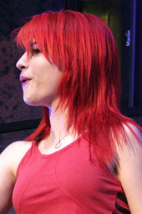 Hayley Williams Straight Red Choppy Bangs Choppy Layers