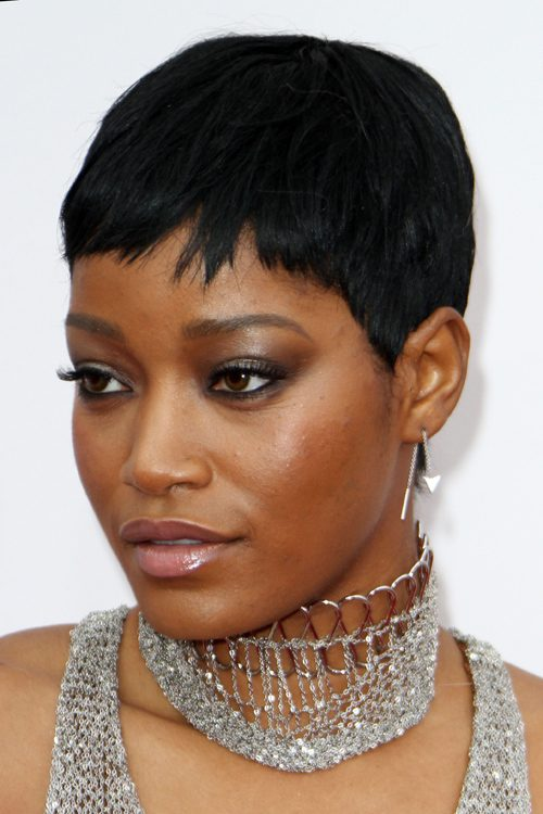 Keke Palmer Straight Black Pixie Cut Hairstyle Steal Her