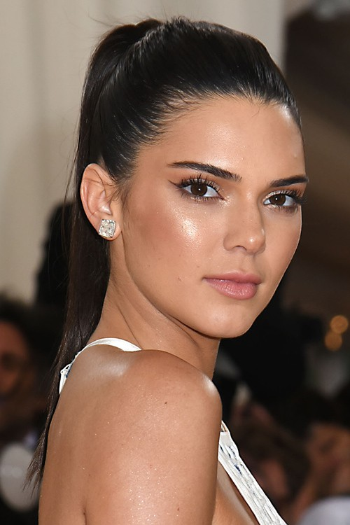 Kendall Jenner Straight High Ponytail Ponytail Hairstyle Steal Her Style