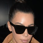 152581, Kanye West and Kim Kardashian bump into Scott Disick at Hakassan restaurant in Mayfair. Kim was weraing a provocative gold choker necklace with the word sex as part of the design. London, United Kingdom - Friday May 20, 2106.   Photograph: © Palace Lee,  PacificCoastNews. Los Angeles Office: +1 310.822.0419 UK Office: +44 (0) 20 7421 6000 sales@pacificcoastnews.com FEE MUST BE AGREED PRIOR TO USAGE