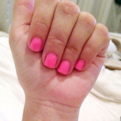 Kim Kardashian Hot Pink Nails