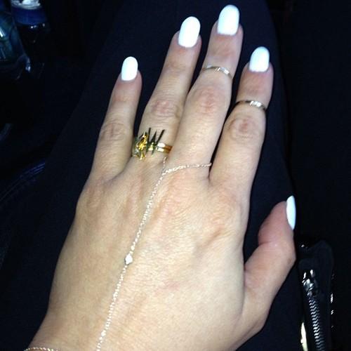 Kim Kardashian White Nails