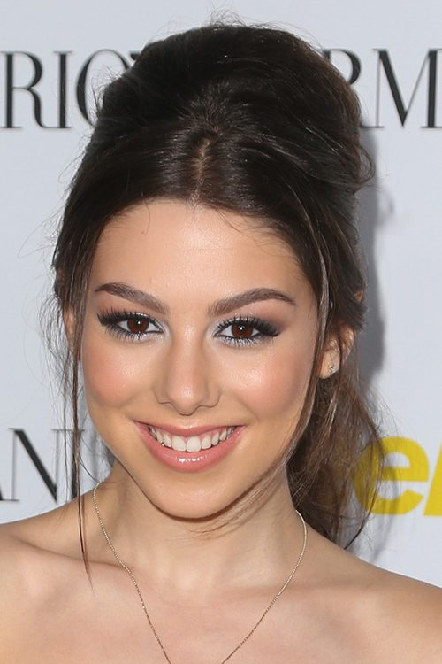 Kira kosarin straight medium brown back combed face framing kira kosarin straight medium brown back combed face framing pieces updo hairstyle steal her style pmusecretfo Image collections