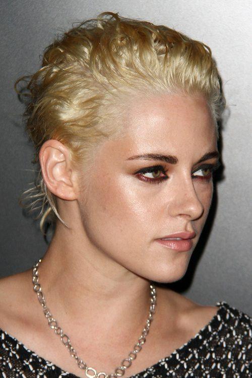 Kristen Stewart Wavy Golden Blonde Choppy Layers Hairstyle