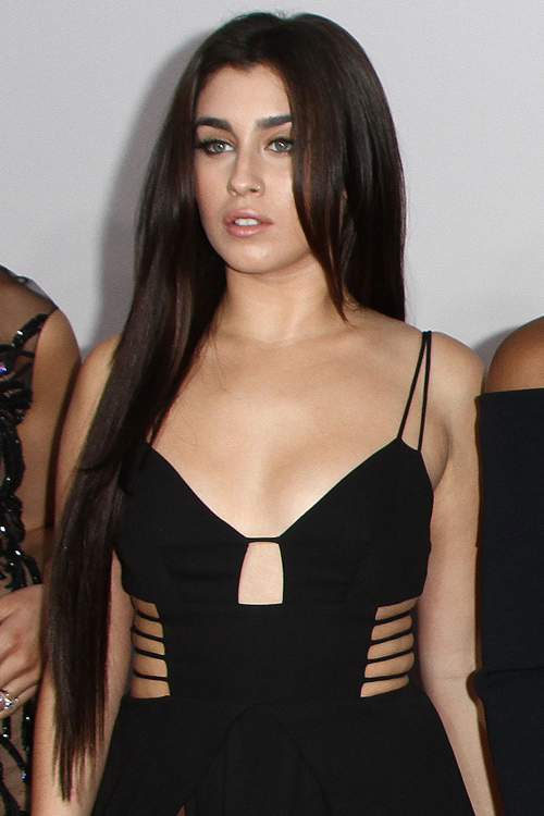 Lauren Jauregui Straight Long Layers Side Part Hairstyle
