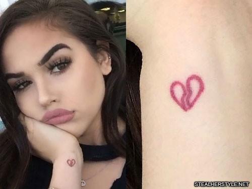 Maggie Lindemann Broken Heart Wrist Tattoo Steal Her Style
