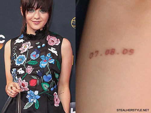 maisie williams 4 tattoos meanings steal her style