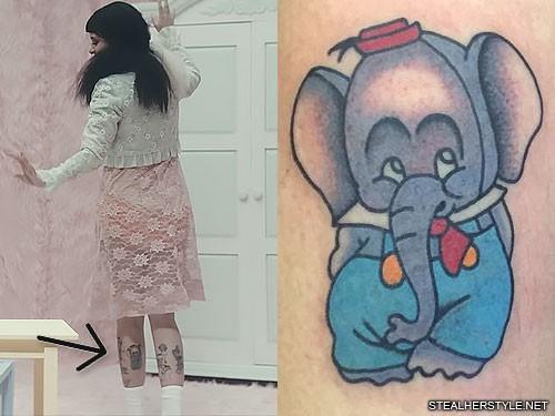Melanie Martinez Character Elephant Calf Tattoo Steal