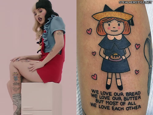 Melanie Martinez Character Portrait Calf Tattoo Steal