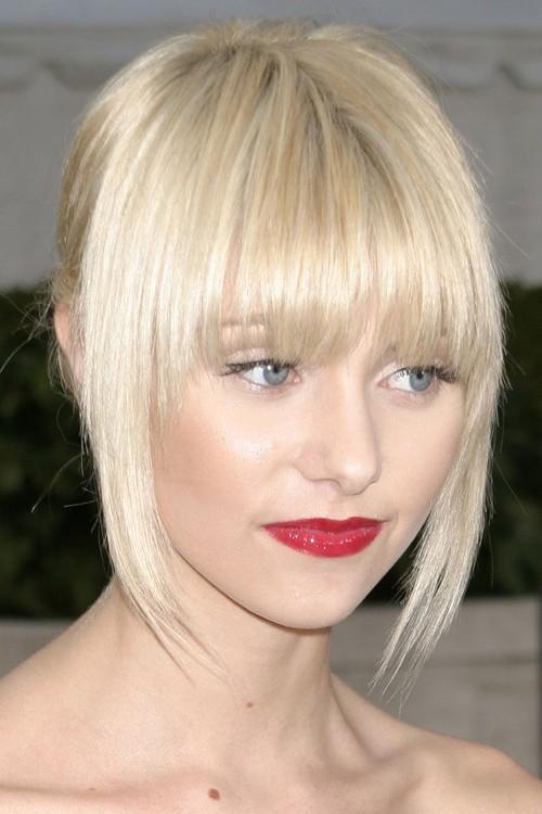 Taylor Momsen Straight Platinum Blonde Curved Bangs Updo