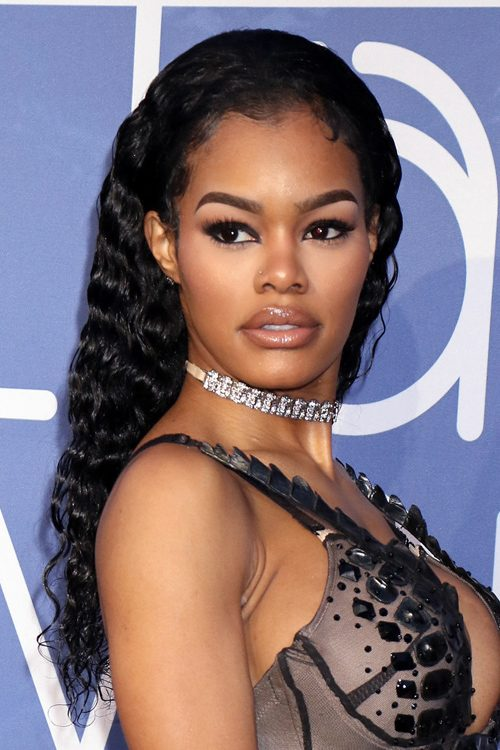 Teyana Taylor Curly Black Pin Curls Hairstyle Steal Her