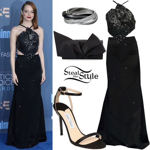 Emma Stone at The 22nd Annual Critics' Choice Awards at Barker Hanger, Santa Monica. December 11th, 2016 - photo: PacificCoastNews