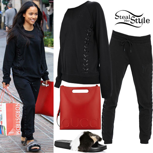 Karrueche shopping at The Grove. December 12th, 2016 - photo: PRPhotos