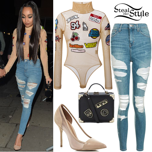 Leigh-Anne Pinnock leaving Tape nightclub in London. December 12th, 2016 - photo: PacificCoastNews
