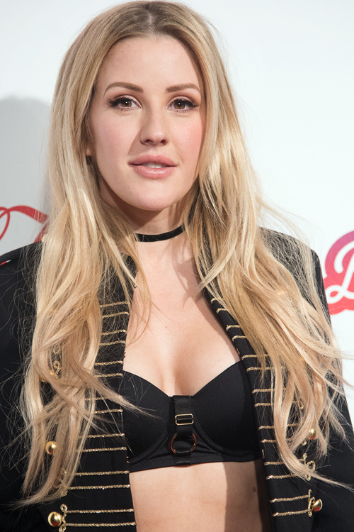 Ellie Goulding Wavy Light Brown All Over Highlights Long