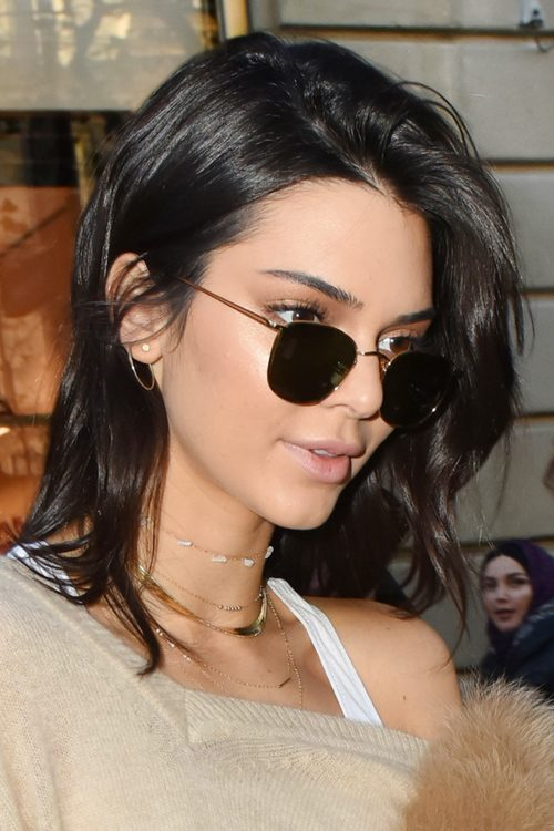 Kendall Jenner Straight Black Bob Messy Hairstyle Steal Her Style
