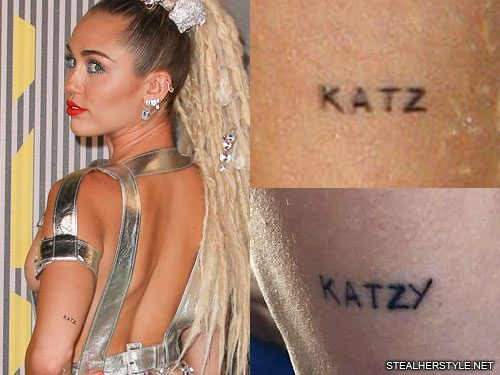 Miley Cyrus 36 Tattoos & Meanings | Steal Her Style