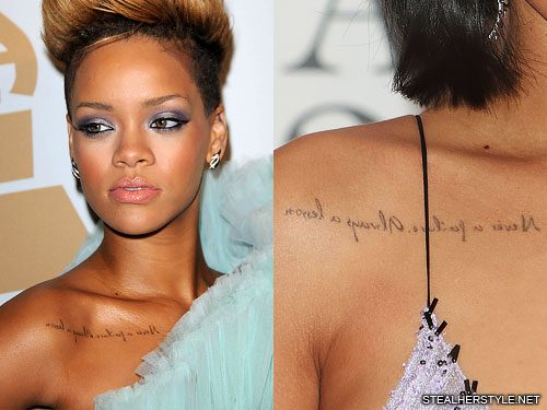Rihanna S Tattoos Amp Meanings Steal Her Style